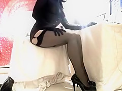Exotic Homemade Shemale movie with Solo, Stockings scenes 89513