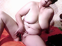 Two old grannies fingering wet cunts