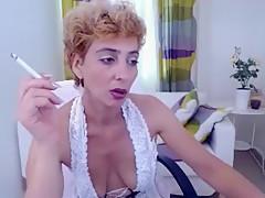 Incredible amateur Smoking, Solo sex video