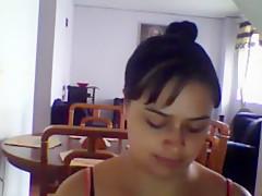 Crazy Amateur clip with Brunette, Webcam scenes