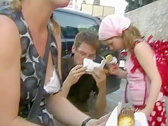 Hottest Amateur movie with Downblouse, Outdoor scenes