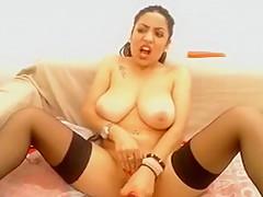 Arabian Very Masturbate On Camera With Doll-