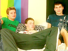 Hot Twink Gay Threesome Suck and Fuck