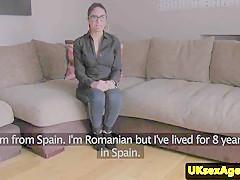 european interview amateur jizzed over specs