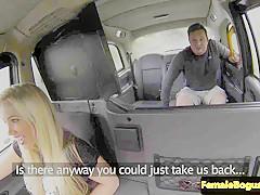 Public cabbie babe pussypounded on backseat