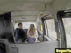 real taxi duo banging on the backseat