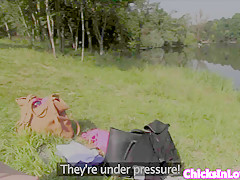 euro lesbos filmed pussylicking outdoor