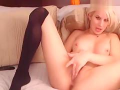 Horny homemade Blonde, Webcam porn clip
