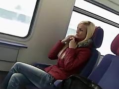 adorable german woman sex on public transport