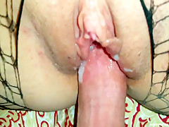 Mature Pussy Plastered With Cum - WifeBucket