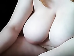 Homemade big tit porn film with a sexy blonde babe