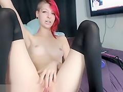 Redhead Is Masturbating In This Video