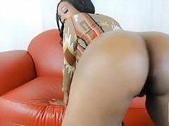 Black Girl Does A Striptease
