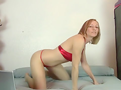 Blonde Takes Off Her Clothes