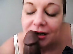 Naughty housewife is looking hot it this free homemade non-professional porn, which shows her deepthroating my lengthy dark penis.