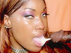 Classy Black Whore Loves A Cumshot - RealBlackExposed