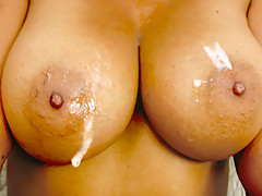 Chelsea Gets Her Georgous Brown Boobs Drenched With Cum - RealBlackExposed