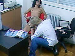 Slutty Latin Gf Sucking Her Bf In Her Office - RealLatinaExposed