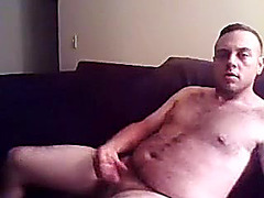 Hot fag is having a good time in the apartment and memorializing himself on camera