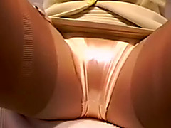Filmed hawt woman's crouch in her sexy short skirt as this playgirl sits on chair