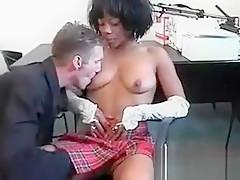 Ebony Pervert Pussy Plugged Hard