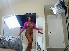 Sexy Ebony Girl Uses Lube To Jerk A Johnson