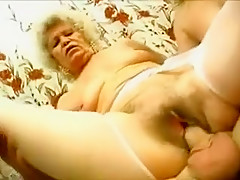 Mature Blondes Deep Throat His Prick And Take Turns Riding On It