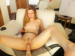 Small Titted Redhead Milf Jessie Touches Her Slit