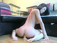 Outstanding Body Girl Riding Her Dildo