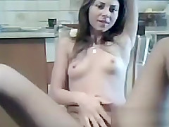 Sweet Cam Girl Does A Striptease