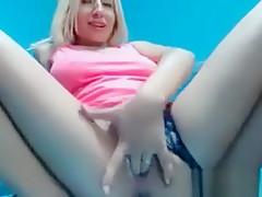 Horny Blonde Chick Orgasms