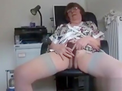 Granny Teases Her Old And Hairy Pussy
