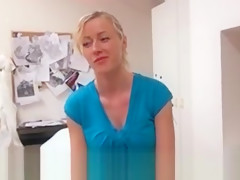 Euro Girlnextdoor Gets Naked For Cash