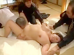 Stacked Oriental wife gets her tight hairy cunt devoured an