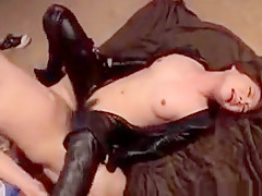 Japanese mistress getting pussy smashed and creampied