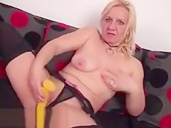 Horny blond experienced is touching