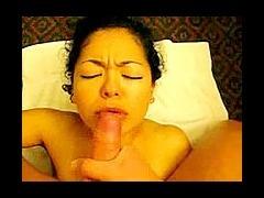 Girlfriend face cumming scene