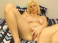 Beautiful Lazy Blonde Doing Striptease