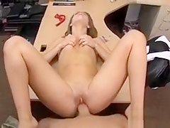Cute card dealer paws her pussy and pounded for 600 dollars