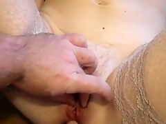 Fucked girlfriend in tight anal