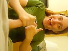 Pretty Nose Pierced Redhair Girlfriend Make A Long Homemade Blowjob,!Damn!