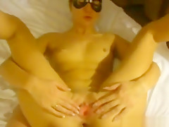 My blindfolded girlfriend fucked in her asshole