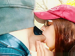 Deepthroat Blowjob in the forest - Cumshot In Mouth
