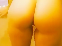 Hot wife brunette shakes ass for candy