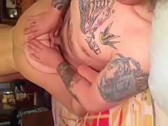 Tattooed Lad Slams His Fat Wife With His Big Rod