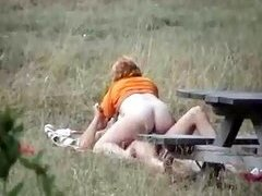 Couple fuck in the park voyeur video