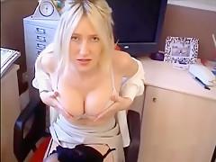 British MILF slut Holly Hepburn (aka Louise Hobby) fucks her boss