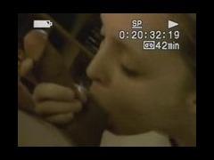 Bimbo licking cock