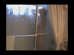 Voyeur chick in shower