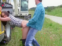 Brother Fucks His Busty German Step Sister Outdoor